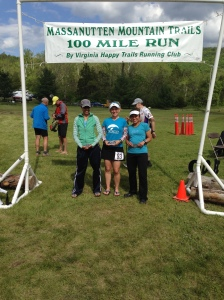 Finish line of MMT 100 with KC and Cherry - 2014